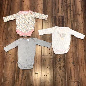 Mini Boden - Set of 3 - Baby Girl Bodysuits
